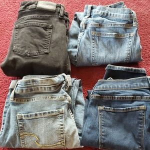 4 pair Jean's size 4 Good condition